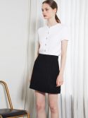 룩캐스트() BLACK TWEED MINI SKIRT