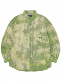 디스이즈네버댓(THISISNEVERTHAT) Bleach Check Shirt  Green