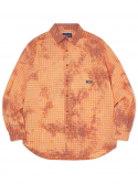 디스이즈네버댓(THISISNEVERTHAT) Bleach Check Shirt  Orange
