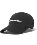 디스이즈네버댓(THISISNEVERTHAT) SP-Logo Cap Black