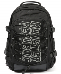 몬스터리퍼블릭(MONSTER REPUBLIC) MONSTER SCOTCH LOGO BACKPACK / BLACK