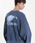 피스메이커() PIGMENT EARTH SWEAT SHIRTS (NAVY)