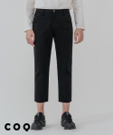 씨오큐() Basic straight crop pants_black