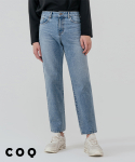 씨오큐() Minimal wide denim pants_light blue