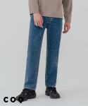 씨오큐() Minimal wide denim pants_middle blue