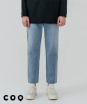 씨오큐() Straight crop denim pants_light blue