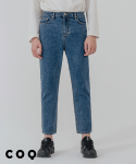 씨오큐() Straight crop denim pants_middle blue
