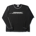 노매뉴얼(NOMANUAL) R.D LONG SLEEVE TEE - BLACK