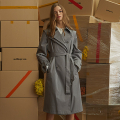 Addrop Trench Coat - Gray