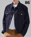 86로드(86ROAD) CRYSTAL STANDARD DENIM JACKET INDIGO (스탠다드핏)