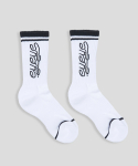 아이아이() BLACK STRIPE EYEYE LOGO SOCKS_WHITE (EETZ1ASY01W)