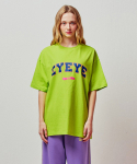 아이아이() [4/2 예약] EYEYE BASIC LOGO COTTON T-SHIRT_LIME (EETZ2RSR04W)