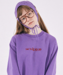 스컬프터() [Unisex]Snow Wash Sweatshirt  [PURPLE]