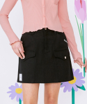 로라로라(ROLAROLA) (SK-20146) CARGO DENIM SKIRT BLACK