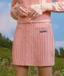 로라로라(ROLAROLA) (SK-20144) SET-UP BUTTON KNIT SKIRT PINK