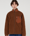 매치글로브() MG9F HIGH NECK DUMBLE ZIPUP (BROWN)