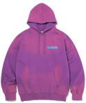 디스이즈네버댓(THISISNEVERTHAT) Damaged Hooded Sweatshirt Purple