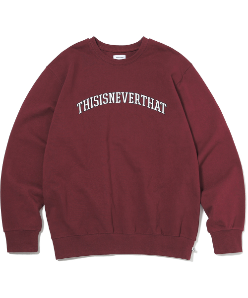 디스이즈네버댓(THISISNEVERTHAT) ARC-Logo Crewneck Burgundy