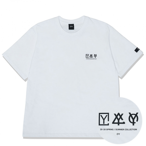 오와이(OY) TRIPLE LOGO T-WHITE