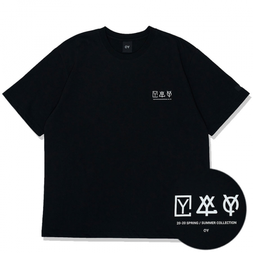 TRIPLE LOGO T-BLACK