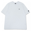오와이() DOUBLE COLLAR T-WHITE