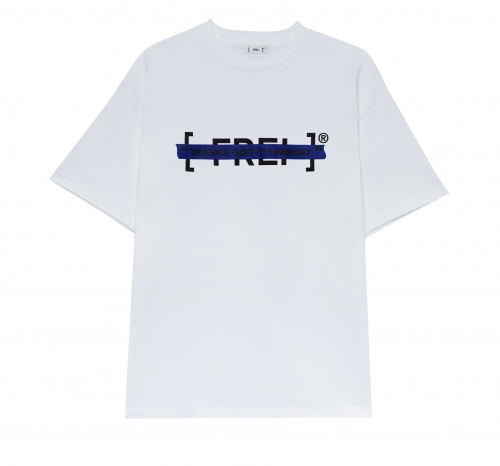 TAPE LOGO T-SHIRT(BLUE)