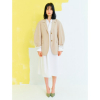 Volume Sleeve Jacket in Beige