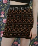 네스티팬시클럽(NASTY FANCY CLUB) [NF] FANCY BUTTERFLY KINT SKIRT (BLACK)(20SS-F705)