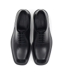메종미네드(MAISON MINED) BLACK LEATHER DERBY SHOES