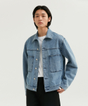 커렌트() TWO POCKET DENIM JACKET MEN [INDIGO BLUE]