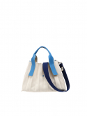 조셉앤스테이시() Lucky Pleats Canvas S Ivory_Hockney Blue