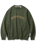 유니폼브릿지(UNIFORM BRIDGE) arch logo sweatshirts khaki