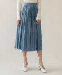 리올그(REORG) FOR LUSTER PLEATS SKIRT BLUE