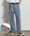 낫포너드(NOT4NERD) Card Wallet Wide Denim Pants Light Blue