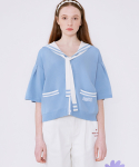 로라로라(ROLAROLA) (CD-20331) SAILOR SHORT SLEEVE CARDIGAN BLUE
