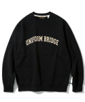 유니폼브릿지(UNIFORM BRIDGE) arch logo sweatshirts black