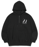 디스이즈네버댓() N 1/4Zip Hooded Sweatshirt Black