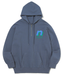 디스이즈네버댓(THISISNEVERTHAT) N 1/4Zip Hooded Sweatshirt Dark Bluegrey