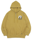 디스이즈네버댓(THISISNEVERTHAT) N 1/4Zip Hooded Sweatshirt Mustard
