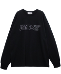 로켓런치(ROCKET X LUNCH) [UNISEX] R ROCKET GRAPHIC T-SHIRT_BLACK
