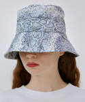 로켓런치(ROCKET X LUNCH) [UNISEX] R PYTHON BUCKET HAT_BLUE