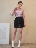 바이바이섭() T01-TWEED MINI SKIRT BLACK