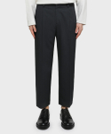 가먼트레이블() Banding basic Wide Crop Slacks - Charcoal