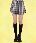 러브이즈트루() SZ CHECK SET UP SKIRT(NAVY)