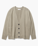 제로(XERO) V-Neck Over fit Cardigan [Beige]