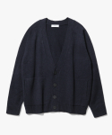 제로(XERO) V-Neck Over fit Cardigan [Navy]