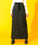 하이버넷(HYBERNAT) PAPER BAG LONG SKIRT-BLACK