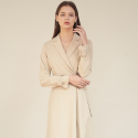 아쿠드() Belt Detail Tailored Wrap One-Piece_Beige