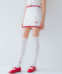 하트클럽(HEART CLUB) Heart Line Band Skirt_White