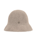 하이스쿨디스코(HIGH SCHOOL DISCO) BADGE BUCKET HAT_LIGHTBEIGE